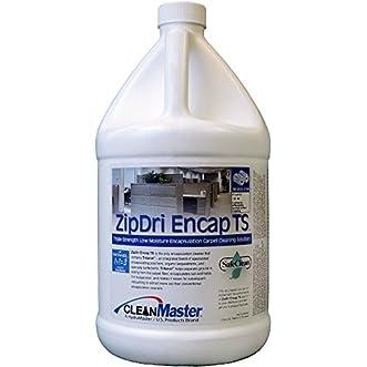 ZipDri Encap TS - Triple Strength Low Moisture Encapsulation Carpet Cleaning Solution, 1 gal (Pack of 4) - CleanMaster 950-152-B