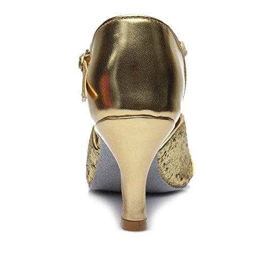 Mujer 259 Modelo Baile estándar Oro de Zapatos de Latinos 7cm HIPPOSEUS 8wqaY1W