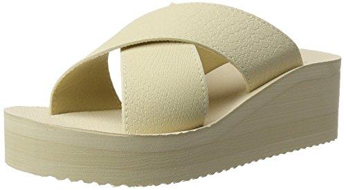 flip*flop Plateau Cross - Sandalias Mujer Beige (sombrero)