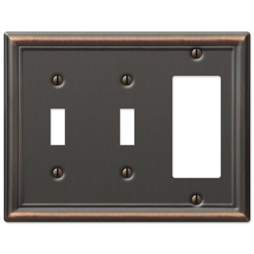 Double Toggle and GFCI Decora Rocker Wall Switch Plate Outlet Cover - Oil Rubbed Bronze ()