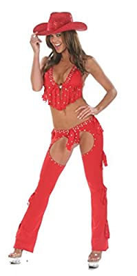 Nom de Plume, Inc Women's Sexy 3PC Cowgirl Chaps Costume With Hat