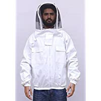 Beekeeper Jacket 100% Heavy Cotton Facris with Veil (Large)