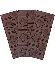قالب مصاصات من ويب كيك مع العصي 3 قطع قوالب مصاصة الشوكولاتة الصلب الحلوى قالب 6 تجويف ستار لولي بوب
