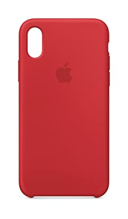 iphone x coque silicone rouge