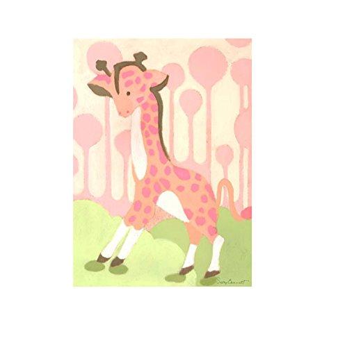 Oopsy Daisy Gigi Giraffe, Pink, 18 x 24'' by Oopsy Daisy