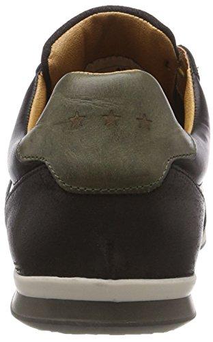 Pantofola d'Oro Roma Low, Sneaker Uomo Schwarz (Black .25y)