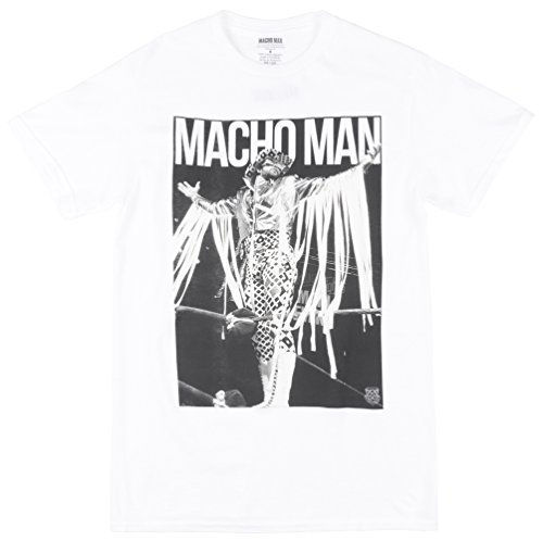 Macho Man Randy Savage Definitive Superstar WWE Mens White T-shirt-L by WWE