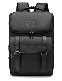 Weekend Shopper 15.6'' Laptop Backpack College School Bookbag Lightweight Travel Backpack for Men and Women Balck