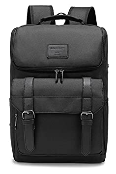 Weekend Shopper 15.6'' Laptop Backpack College School Bookbag Lightweight Travel Backpack for Men and Women Balck Weekend Shopper-1658re-b