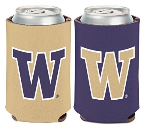 WinCraft NCAA University Washington Huskies 1 Pack 12 oz. 2-Sided Can Cooler