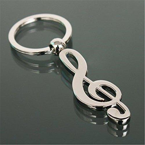 Musical Note Keychain (JewelBeauty Fashion Cool Musical Note Key Ring Keyfob Keyring Music Symbol G-Clef Keychain Gift New)