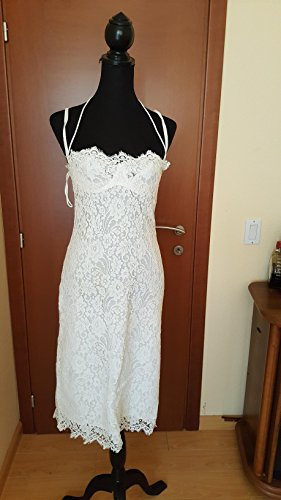 DOLCE & GABBANA ORIGINAL 2900.00 $ WHITE SHEER DRESS, MADE IN ITALY - In Dolce Gabbana And Made