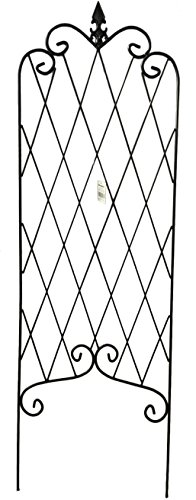 "Amagabeli 46"" by 15"" Rustproof Black Iron Trellis for Garden Trellis Metal Trellis Arch Metal Garden Trellis Trellis for Climbing Plants (Rose Is Not Included)"