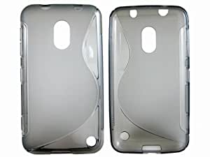 S Line TPU Protective Case Cover Skin for Nokia Lumia 620 Clear Gray