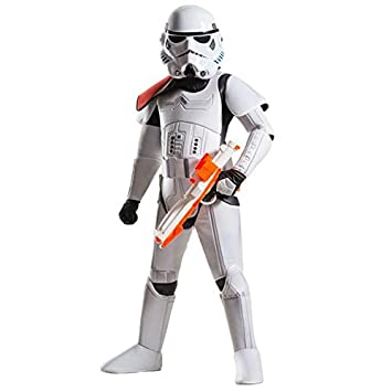 Rubie´s – Disfraz de Super Deluxe Oficial de Disney Star Wars Stormtrooper, niño – pequeño