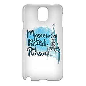 Loud Universe Samsung Galaxy Note 3 3D Wrap Around Moscow Print Cover - White