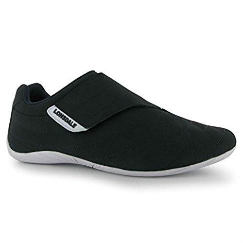 Lonsdale Herren Brompton Trainer Leder genäht Obermaterial Sport Schuhe Schuhe Marineblau / Weiß