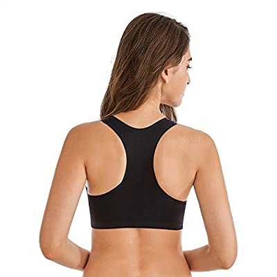 Viotyst Women's Mesh Sport Bras, Removable Padded Wirefree Racerback High Impact Workout Gym Yoga Fitness Activewear Bra