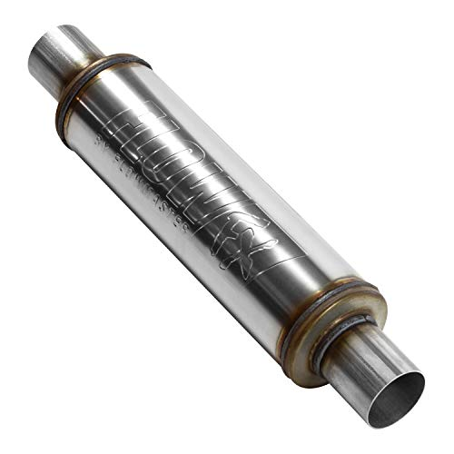 2.25 Inlet Muffler - Flowmaster 71415 2.25 in. Inlet/Outlet Clamp On Stainless Steel Natural Finish FlowFX Muffler