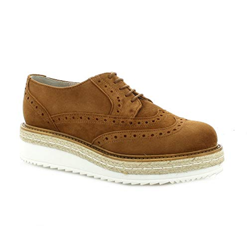 Cuir Camel Pao Pao Derby Derby Velours qnv08