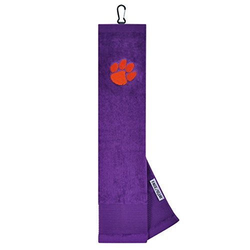 Clemson Tigers Face/Club Embroidered Towel