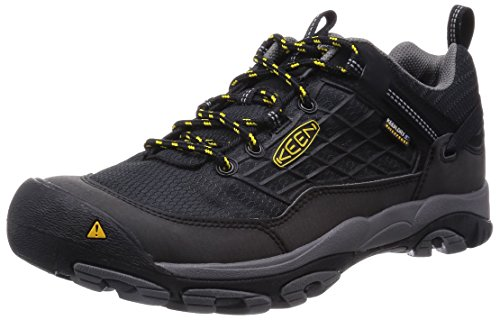 Keen Saltzman Wp - Zapatillas de senderismo Hombre Schwarz (Black/Keen Yellow)