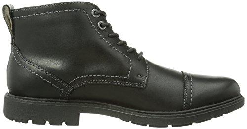 Clarks Sumner Heath - Botas de cuero para hombre negro - Schwarz (Black Leather)