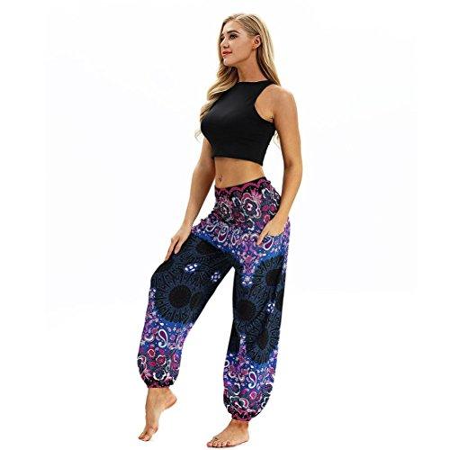 Lazzboy Men Women Loose Baggy Boho Hippy Yoga Trousers Aladdin Harem Pants