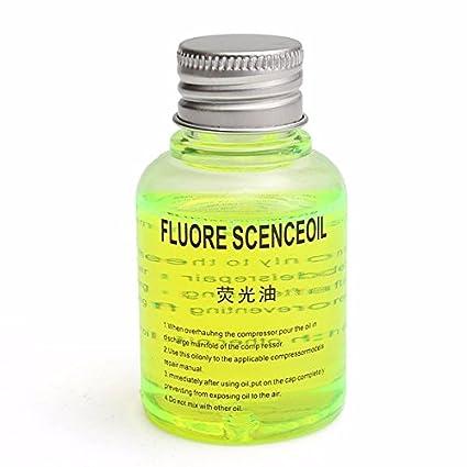 GOZAR Aceite Fluorescente Fuga Detección Fugas Prueba UV Tinte para Coche A/C Gasoducto Refrigerante