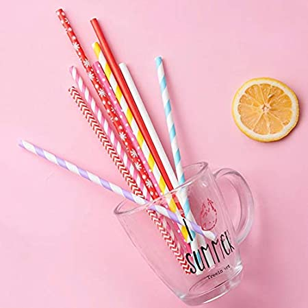 150 PCS Paper Straws Biodegradable Recyclable Drinking Straws Great for Cocktails Cold Drinks /& Juices Weddings /& All Occasions /… Suitable for Parties