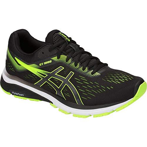 ASICS GT-1000 7 Men's Running Shoe, Black/Hazard Green, 7.5 D US by ASICS (Image #1)