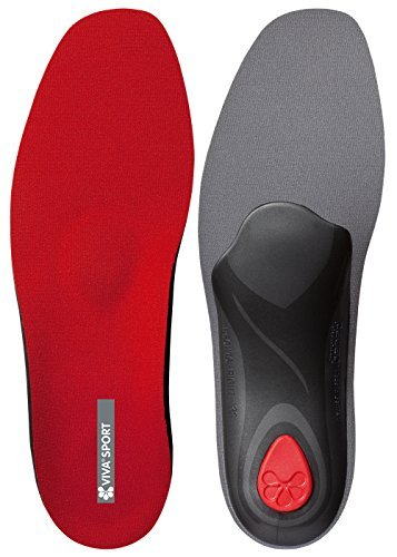 Pedag Viva Sport Semi-Rigid Orthotic for Impact Sports with Met Pad and Heel Cushion, Red, EU 43/US M10 by - Semi Sport