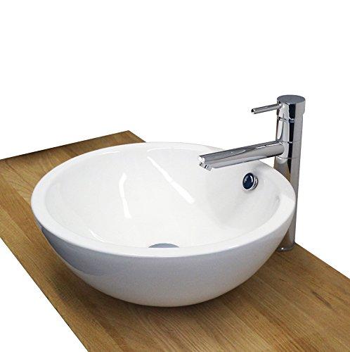 Burgtal 17528 Design Keramik Aufsatz Waschbecken Waschschale Handwaschbecken BKW-01