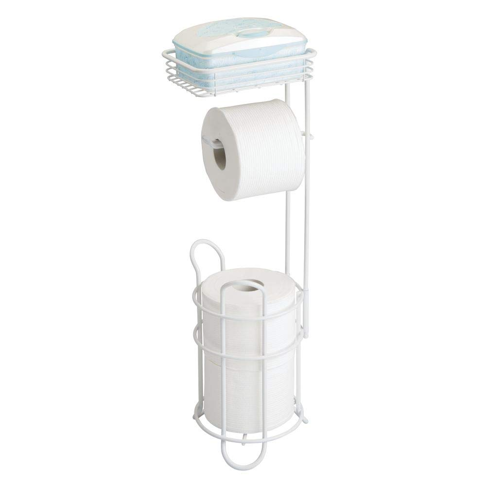 Amazoncom Mdesign Freestanding Metal Wire Toilet Paper Roll Holder