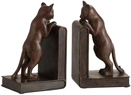 21,5 x 6,5 x 20 cm Relaxdays Serre-livres lot de 2 en fonte appui-livres style antique design retro HxlxP bronze