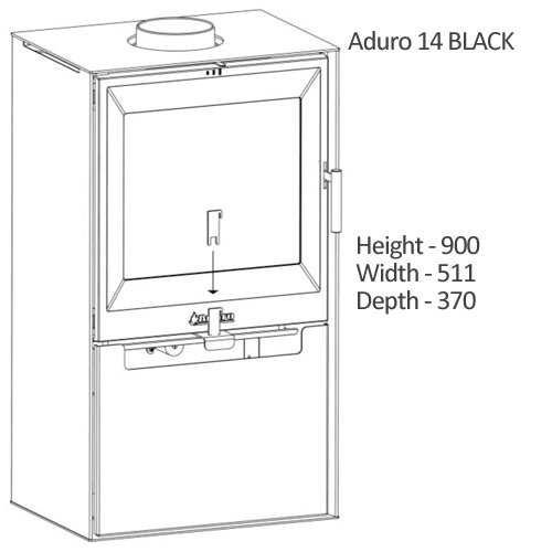 Aduro 14 - Estufa de leña (6,5 kW), color negro: Amazon.es: Bricolaje y herramientas