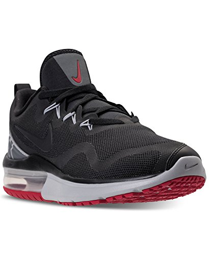 Nike Mens AIR MAX Fury Black Grey RED Size 7.5 (Nike Air Max 90 Red And Grey)