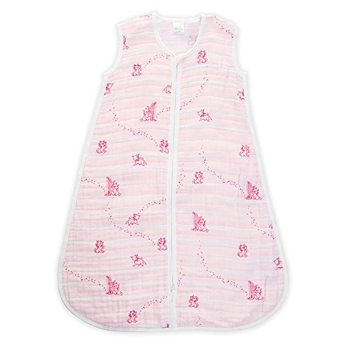 aden + anais Disney 1.0 TOG Sleeping Bag, 100% Cotton Muslin, Winnie The Pooh, 6-12m Aden and Anais DISN305G