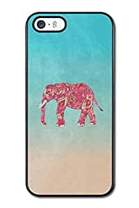 Generic High Quality Snap On Whimsical Colorful Elephant Design Polycarbonate (PC) Hard Cellphone Case Back Skin Cover Protector For iPhone 5,5S hjbrhga1544
