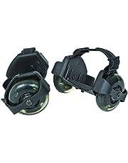 Sporting Pulley Lighted Flashing Wheels Heel Skate Rollers for strap on roller skate for kids
