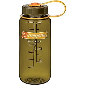 Nalgene WM 1 PT Sports Water Bottle, Olive, 16 oz