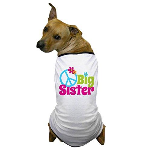 CafePress - Peace Sign Big Sister Dog T-Shirt - Dog T-Shirt, Pet Clothing, Funny Dog Costume