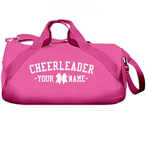 Cute Custom Cheerleader Name Cheer Bow Bag: Liberty Barrel Duffel Bag (Custom Made Cheerleading Bags)