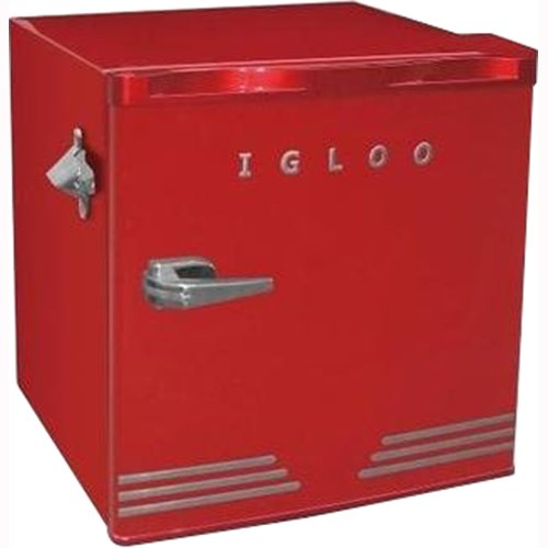 Igloo 1.6 cu ft Retro Bar Fridge with Side Bottle Opener (Bar Fridge Freezer)
