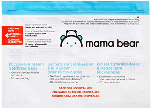 Amazon Brand - Mama Bear Sterilizer Bags, 10-count