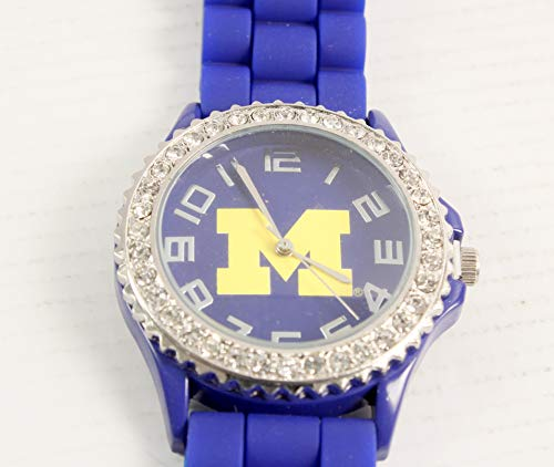 NCAA Michigan Wolverines Jewelry Watch Jellly (Day Watch Michigan Game Wolverines)