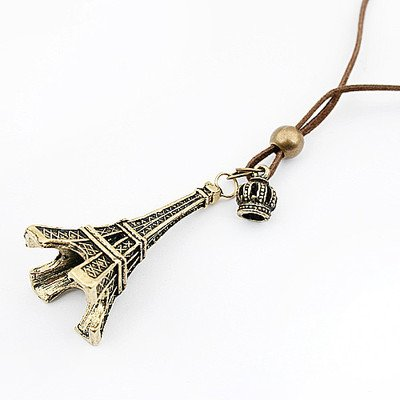 niceeshop(TM) Fashion Vintage Eiffel Tower Pendant With Chain,Bronze