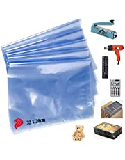 POF Heat Shrink Bag - shrinkable plastic large 32cmx20cm wrap presents remote control notebook and other gifts (32x20cm-L)