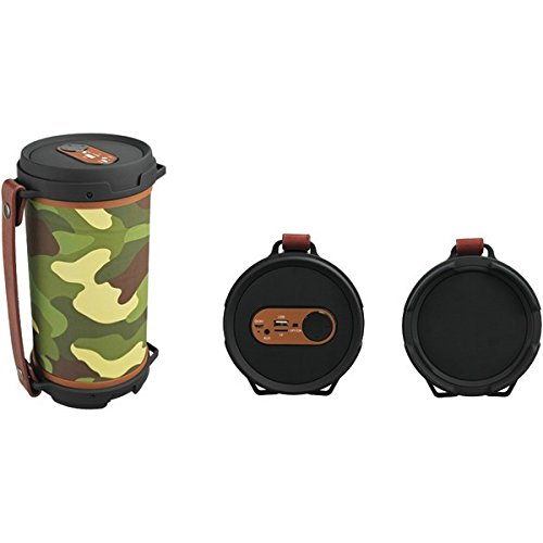 Tube Portable Speaker (Sylvania SP807-CAMO Hi-Fi Bluetooth Rugged Tube Speaker (Camouflage))