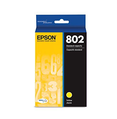 Standard Capacity Yellow Cartridge - Epson T802420 DURABrite Ultra Yellow Standard Capacity Cartridge Ink